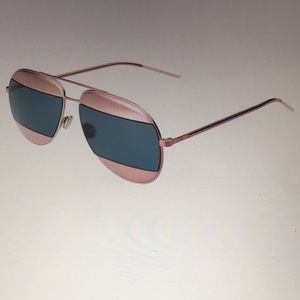 Dior Pink Frame Blue Lens Aviators Never Used